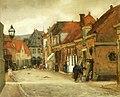 Floris Arntzenius - Straatje in Hoorn, met zicht op de Kaaswaag.jpg