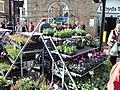 Flower stall, Mold Street Market.JPG