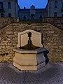 Fontaine au bas de la rue des Terreaux (Miribel) de nuit (1).jpg