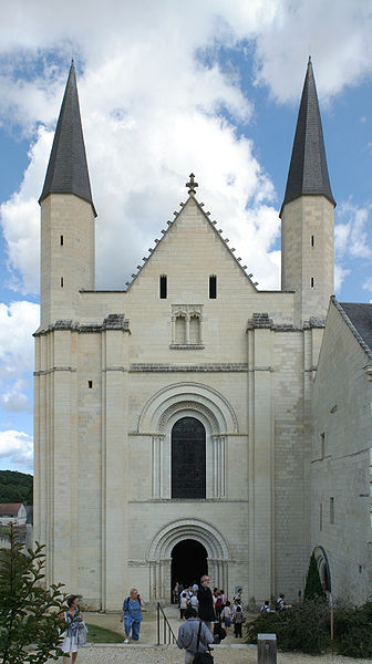 West facade of Fontevraud