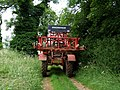 Footpath and Sprayer, near Spilsby - geograph.org.uk - 473139.jpg
