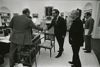Robert Bork - Bork greeting President Gerald Ford in 1975