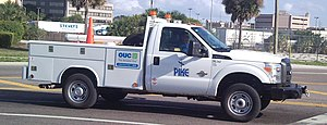 Orlando Utilities Commission - A Ford F-350 Super Duty from Pike Electric Corporation, a contractor for the OUC.