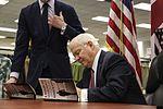 Former Secretary of Defense Gates visits Miramar for book signing 160201-M-HJ625-001.jpg