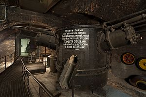 "History of the steel industry (1850–1970) - Stassano furnace exhibited at the Museo della Scienza e della Tecnologia ""Leonardo da Vinci"", Milan"
