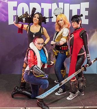 Fortnite - Fortnite cosplayers at Gamescom 2017