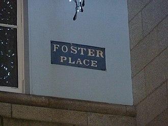 John Foster, 1st Baron Oriel - Foster Place, Dublin, street sign, named after John Foster