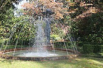 Biedenharn Museum and Gardens - Fountain at the Biedenharn House