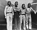 Four pilots of VF-6 aboard USS Enterprise (CV-6) on 10 August 1942 (80-G-11092).jpg