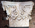 Frammento di capitello con cavalli alati, dall'interno della cella del tempio di marte ultore nel foro di augusto, 2 ac ca. 04.JPG