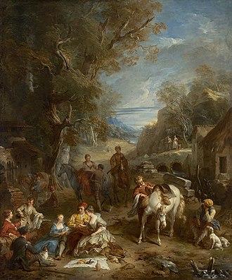 Picnic - Hunt Picnic by François Lemoyne, 1723