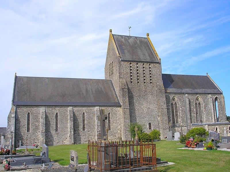 Couvains (Normandie, France). L'église.
