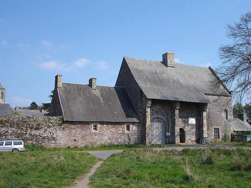 France, Manche (50), Abbaye de la Lucerne d'Outre Mer, entrée