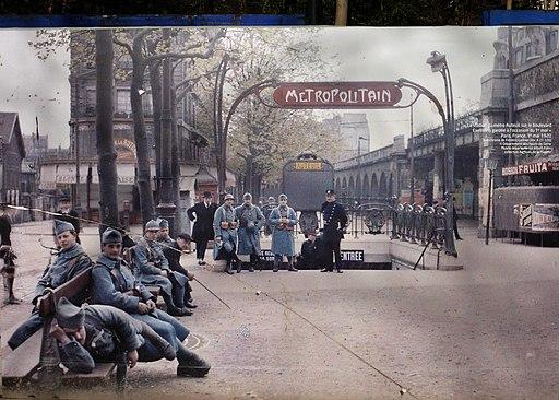 France Paris Metro Auteuil Boulevard Excelmans 1920 autochrome Poster