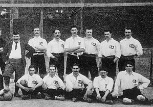 History of the France national football team - France posing before their first match ever, 1 May 1904