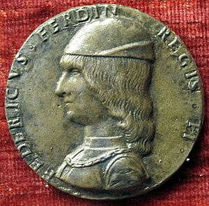 Frederick of Naples - Coin with the image of Frederick