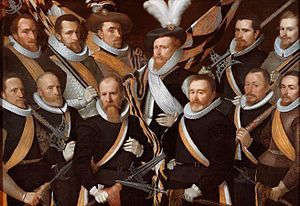 Frans Menton - Officers of the Young or St Sebastian schutterij in 1611.