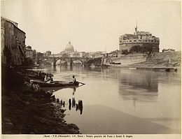 Fratelli D'Alessandri - n. 146 - Roma - Veduta generale del Ponte e Castel S. Angelo.jpg