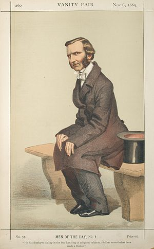 "Frederick Temple - ""He has displayed ability in the free handling of religious subjects, and has nevertheless been made a Bishop"" As Bishop of Exeter, by ""Coïdé"" (James Tissot) in Vanity Fair, 1869"