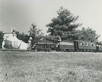 Holiday World & Splashin' Safari - The Freedom Train, previously called the Santa Claus Land Railroad, operated from 1946 to 2012