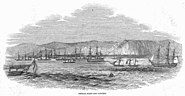 French fleet off Tangiers Illustrated London News 1844