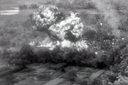 The French Aviation navale drops napalm over Viet Minh guerrilla positions during an ambush (December 1953).