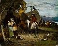 Friedrich von Puteani - Halt at the tavern in the army camp (1876).jpg
