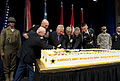 From left, U.S. Army Col. Arthur Wittich, Chief of Staff of the Army Gen. Ray Odierno, Secretary of Defense Chuck Hagel, Secretary of the Army John McHugh, Sergeant Major of the Army Raymond Chandler and Pfc 130613-D-BW835-213.jpg