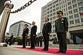 From left foreground, Chairman of the Joint Chiefs of Staff U.S. Army Gen. Martin E. Dempsey, U.S. Secretary of Defense Chuck Hagel, South Korean Minister of Defense Kim Kwan-jin, and South Korean Chairman 131002-D-KC128-119.jpg