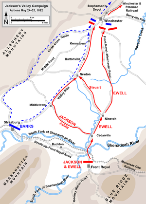 First Battle of Winchester - Image: Front Royal To Winchester