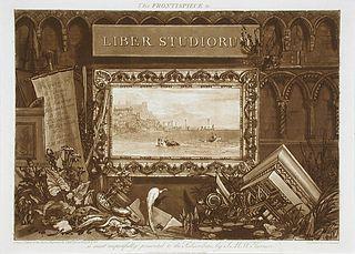 <i>Liber Studiorum</i> series of Turner's landscapes published as prints