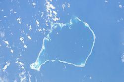 Aerial image of Funafuti atoll