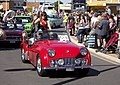 Fundraiser Ambassador, Olivia Stott, in the SunRice Festival parade in Pine Ave.jpg