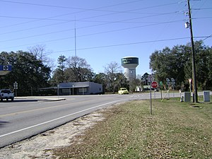 Georgia State Route 376 - SR 376's western terminus in Clyattville