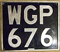 GREAT BRITAIN 1950s PASSENGER license PLATE WGP 676 - Flickr - woody1778a.jpg