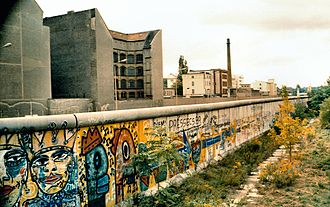 Wings of Desire - The graffiti on the Berlin Wall is depicted in the film.