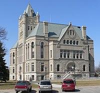 Gage County, Nebraska courthouse from SE 2.JPG