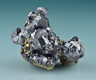 Galena natural mineral form of lead sulfide