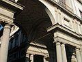Galleria degli Uffizi, façana a l'Arno, Florència.JPG