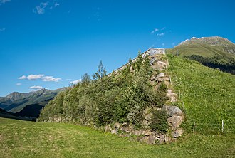 1999 Galtür avalanche - Avalanche protection wall built after the avalanche of 1999