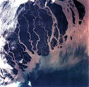 Ganges river delta, Bangladesh and India