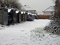 Garages in the snow - geograph.org.uk - 334641.jpg
