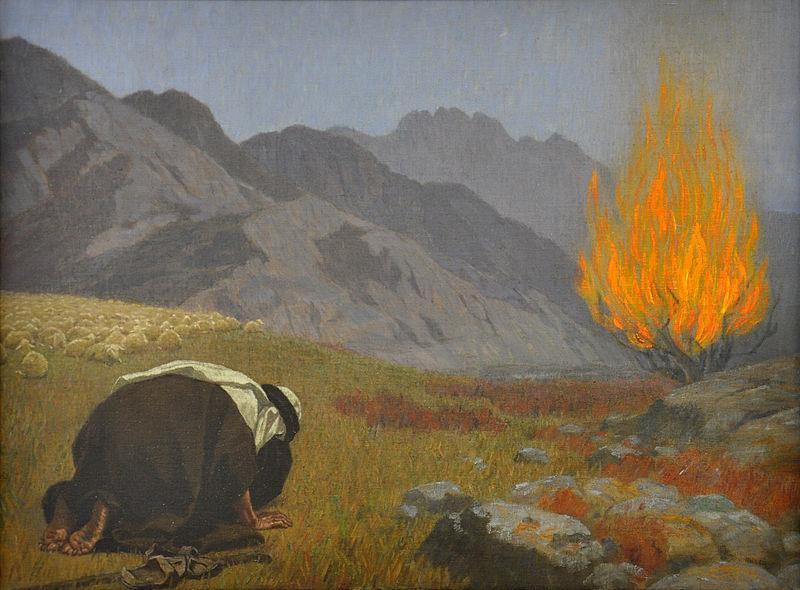 Gebhard Fugel Moses vor dem brennenden Dornbusch c1920.jpg