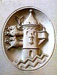 Gedenkstätte an den Ersten Weltkrieg in der Marienkirche, Flensburg mit Flensburger Wappen, Bild 03.JPG