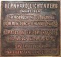 Gedenktafel Kurze Str 4 (Friedr) Bernhard Lichtenberg.jpg