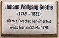 Gedenktafel Markt 7 (Wittenberg) Johann Wolfgang Goethe.jpg