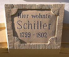 Gedenktafel am Haus Windischenstr.8 in Weimar (Quelle: Wikimedia)