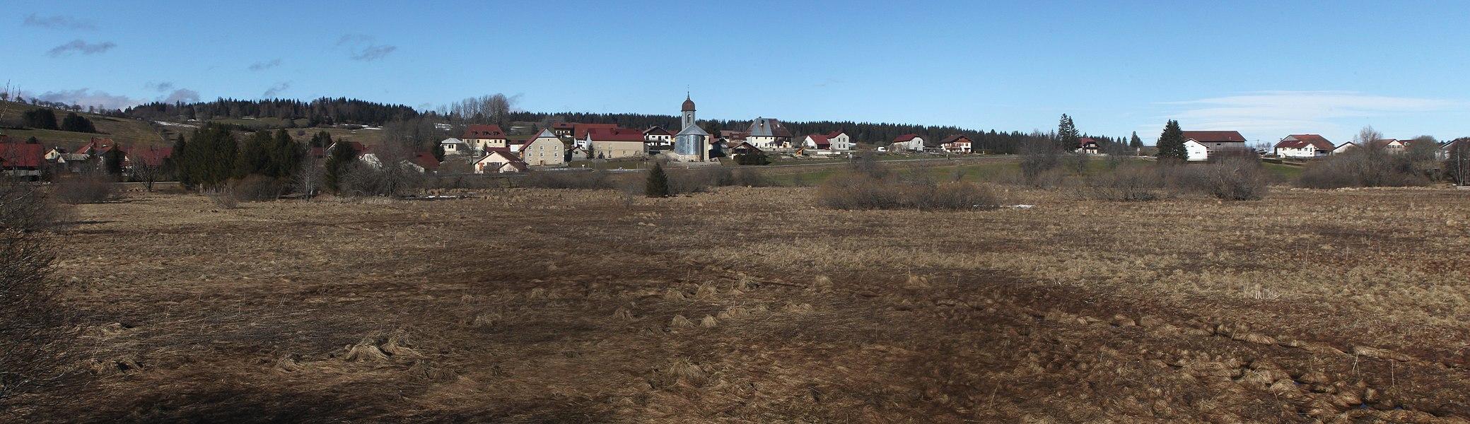 Panorama à Gellin.