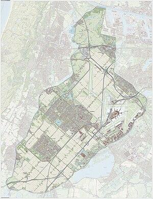 Haarlemmermeer - Dutch Topographic map of Haarlemmermeer, June 2015