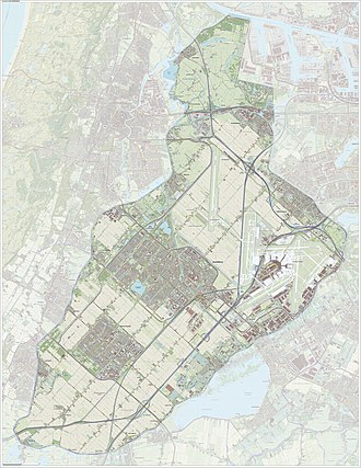 Haarlemmermeer - Dutch Topographic map of Haarlemmermeer, June 2015